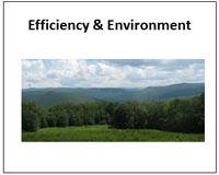 efficiency and environment