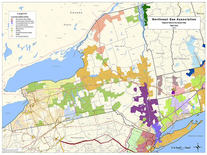 Northeast Gas Association Regional Natural Gas System Map Of Ny