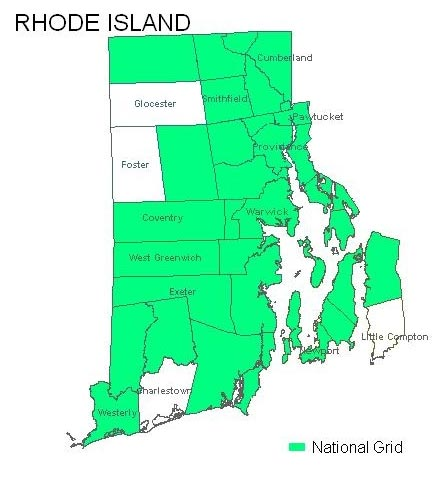 Rhode Island Map With Towns Rhode Island List of Towns
